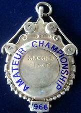 LARGE HEAVY Silver Enamel Medal National Skating Association 1966  Roller Skates