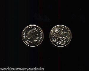 GIBRALTAR £1 POUND 2003 AMICUS CHRISTI GEORGIUS QUEEN HORSE 1700 GEORGE UNC COIN
