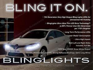 Renault Fluence Samsung SM3 LED DRL Head Light Strips Day Time Running Lamps Kit