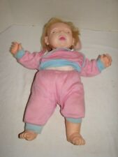 VINTAGE DOLL HASBRO JUDITH TURNER REAL BABY 20 INCHES SLEEPING FACE 1984