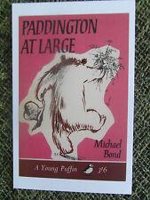 POSTCARD Puffin Book Paddington at Large Michael Bond 1966