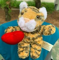 BEAUTIFUL Dan Dee Love Tiger Holding Heart SUPER SOFT Plush Stuffed Animal Toy
