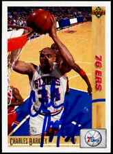Charles Barkley Hand Signed Authentic On Card Auto NM-MT 76ers