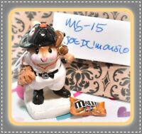 ❤️Wee Forest Folk Joe Di'Mousio Batter-Up! MS-15 Giants Black Orange Baseball❤️