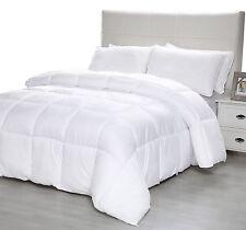 Queen Size Goose Down Comforter White Blanket Luxury Bedroom