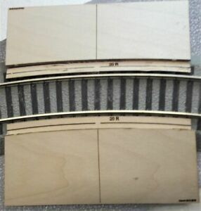 S Scale AF 20R Roadway RAMPS for (Lionel) FasTrack curved grade crossing.