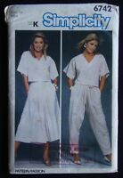 Simplicity 6742 Misses Easy-To-Sew Top Skirt & Pants 14 Sewing Pattern
