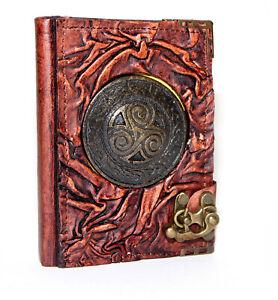 Handmade Genuine Leather Journal Notebook Notepad Sketchbook Diary Brown