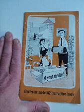 old booklet LEC Electrolux model 62 instruction book hoover