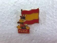 SPAIN FLAG Coca-Cola 1984 Olympics PIN