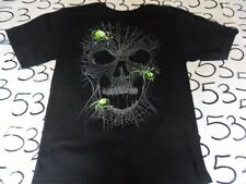 Youth XL- Spiders Skulls Halloween Haunt Horror T- Shirt