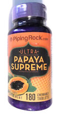 Ultra Papaya Enzyme Fruit Lipase Papain Protease 180 Chewable Tablets Pills