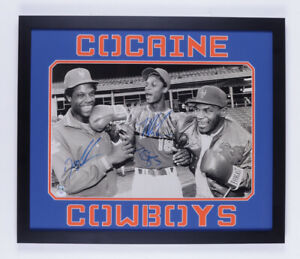 "Mike Tyson, ""Doc"" Gooden, & Darryl Strawberry Signed 22x26 Framed Photo (PSA)"