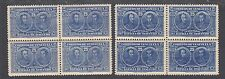 Venezuela Sc 286, 286A Mnh. 1924 25c gray blue & ultramarine Bolivar Blocks, Vf
