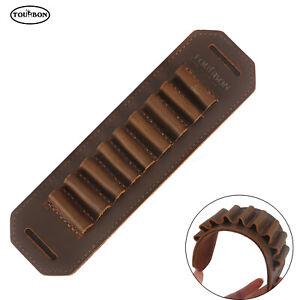 Tourbon Genuine Leather Rifle Bullets Holder Cartridges Belt Slide Clip on Sling