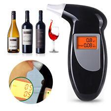 Digital Alcohol Aliento Analizador Ensayador Detector Negro LCD Marca Nuevo