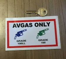 Quality Avgas Only fuel Laminated Sticker piper cessna robin laptop jet ski 172