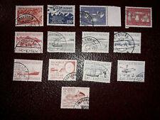 13 verschiedene Werte Grönland gestempelt