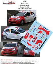 DECALS 1//43 REF 2149 Renault Clio R3 Corbi  Rallye Monte Carlo 2009