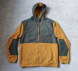 Volcom Zip Jacket Mens  Skate Coat Beige Sand Hoodie - Used Twice - Large