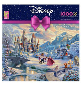New Thomas Kinkade Beauty and the Beast's Winter Enchantment 1000 Piece Puzzle