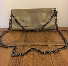 Italian Luxury Designer BORSE IN PELLE Leather Grab Cross Body Chain Shoulder