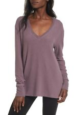 Nordstrom BP Women's Tunic Sweater V-Neck Pullover Purple Syrup Size XS NEW
