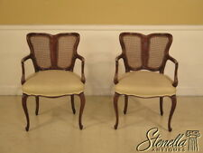 38439E: Pair Italian Made Cane Back French Style Arm Chairs