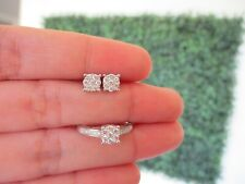 """.65 Carat Face Illusion Diamond Earrings&Ring Set 18k White Gold JS29 sep """"SJ"""""""