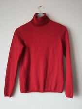 825a2d7a52 JAEGER Red Cashmere Rollneck Turtleneck Jumper Sweater Polo Knit Size Small  8 10