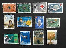 Taiwan 1962-63. Sc#1359//1383. Lot of 7 Sets, 12 used/Unused.