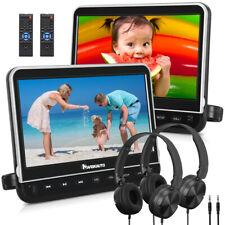 "NAVISKAUTO 2*10.1"" Auto Monitor Dual Kopfstütze DVD Player HDMI SD USB+Kopfhörer"