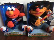 Vintage Fisher Price Rock & Roll Elmo & Ernie Pair In Box 1998