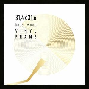 Vinyl LP Rahmen zum Schallplatten/Fotos, 33x33cm - Holz - schwarz (matt)