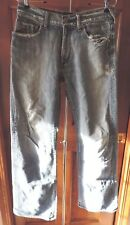 Guess Premium The Cliff Boot Cut Distressed Jeans Men's 31 x 32