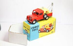 Corgi 417 Land Rover Breakdown Truck In It's Original Box - Near Mint Vintage
