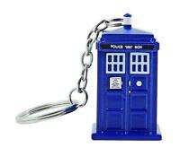 Official DR123 Dr Doctor Who Tardis Keychain 3D LED Torch Keyring Light - Blue