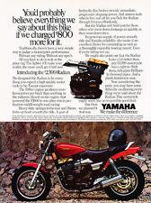1986 Yamaha Radian Motorcycle Original Advertisement Print Ad J508
