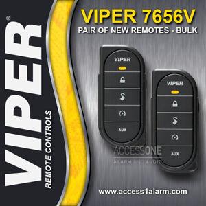 Pair of NEW Viper 7656V 1-Way Remote Controls - Bulk Packaging