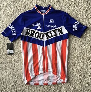 """Giordana Retro Brooklyn SS Full Zip Jersey Size Large For 42"""" Chest Ref:B35"""