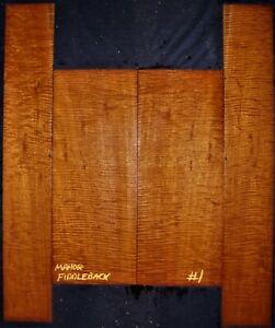 Guitar Luthier Tonewood FIDDLEBACK HONDURAN MAHOGANY Acoustic backs sides SET