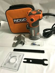 Ridgid R24012 5.5 Amp Corded 1-1/2 Peak HP Compact Handheld Hand Router, GR