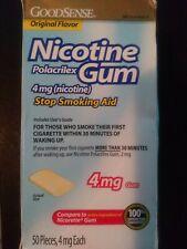NEW GoodSense Nicotine Gum 4 mg 50 pieces original flavor