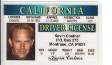 Kevin Costner of Dances with Wolves / Baseball Field of Dreams Drivers License