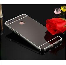 Aluminum Metal Bumper PC Mirror Back Case Cover for Huawei Ascend P8 P9 Lite Rose Gold Mate 8