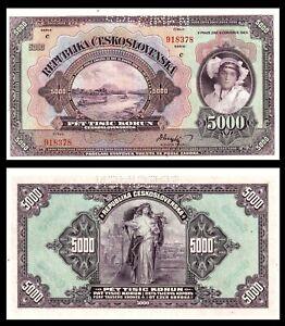 Czechoslovakia 5000 korun SPECIMEN 1920 P-19s UNC ***