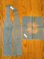Oscar de la Renta Vintage Teal Scarf Handkerchief Set 1960's? - 1970's?