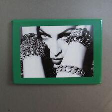 Madonna Refrigerator Magnet; Hiding Eyes Behind Bracelets; Green Fridge Mag