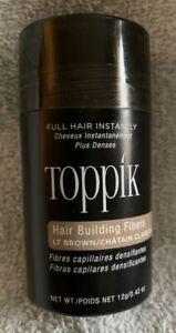 TOPPIK Hair Building Fibers Treatment 12g .42 oz Full Hair Instantly Lt. Brown