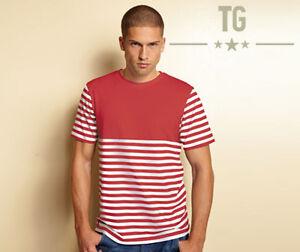 TG Montana Red / White Striped T Shirt Tee, Sizes Medium, Large, XL
